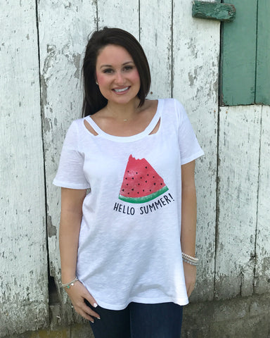 Hello Summer Watermelon Tee
