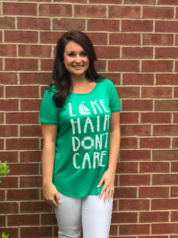 """Lake Hair Don't Care"" Tee"