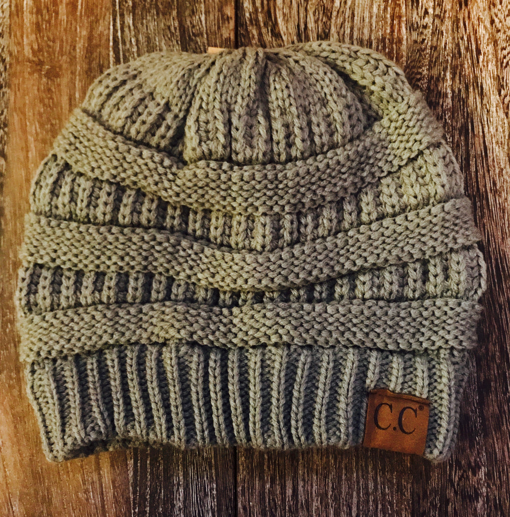 CC Beanie- Natural Gray
