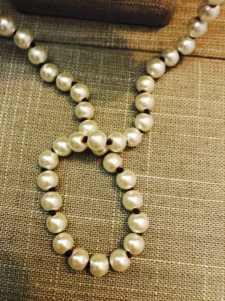 Leather and Pearl Knotted Necklace