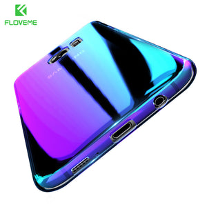 Clear Gradient Blue Light Hard PC Cover Case