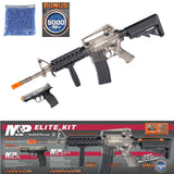 Elite AEG 15 RIS Electric Rifle and M&P 40 Spring Airsoft Pistol With Self Cocking Aluminium Pistol System Crossbow 80 Lbs