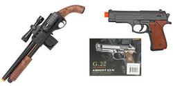 Metal Airsoft Pistol Fux Wood Grips With Smith & Wesson Pistol Grip Mad Max Shotgun