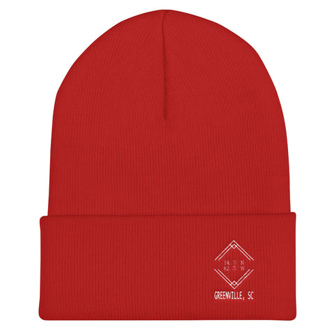 Greenville SC Cuffed Beanie