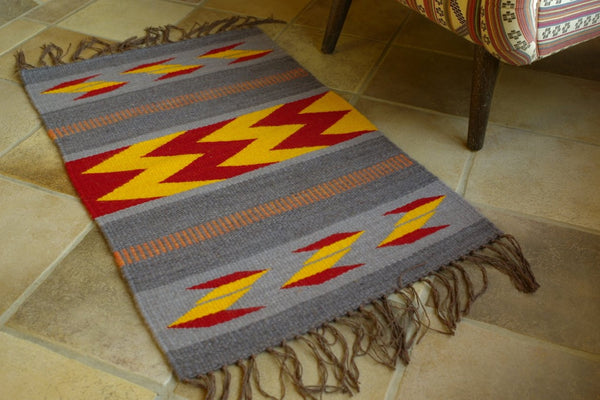 """For the Donkeys""  small floor rug"