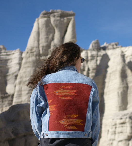 """What the Flock"" Denim Jacket (L women's)"