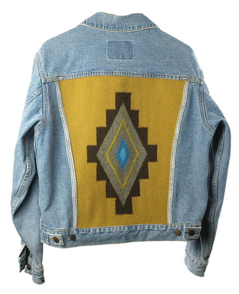 """Turquoise Eye"" Denim Jacket (M men's)"