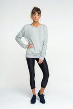Strike Sweater- Grey Stripe