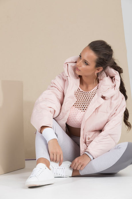Pluto Puffer Jacket- Powder Pink