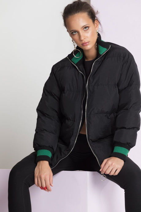 Alpha Puffer Jacket- Black