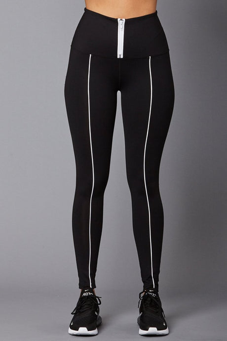 The High Waisted Zip Leggings