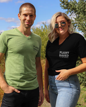 Plant Based For The Animals V-Neck