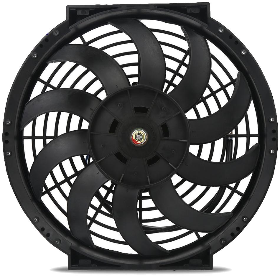 "12"" Inch Automotive Electric Radiator Cooling Fan Thread-In Grounding Thermostat Wiring Switch Kit-Single Electric Fans-American Volt-1/8"" NPT-140'F On - 125'F Off-American Volt"