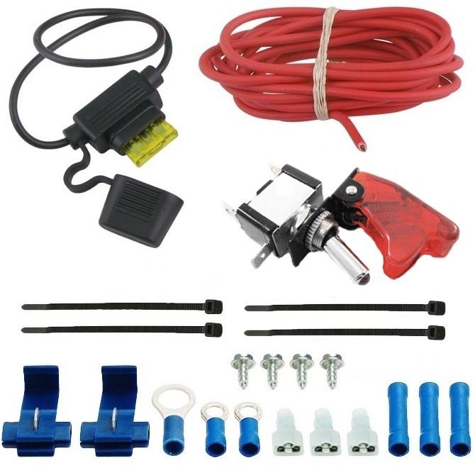 "13 Row Engine Transmission Oil Cooler 6"" Inch Electric Cooling Fan 12 Volt Red Toggle Switch Wiring Kit-Oil Cooler-American Volt-4AN-American Volt"