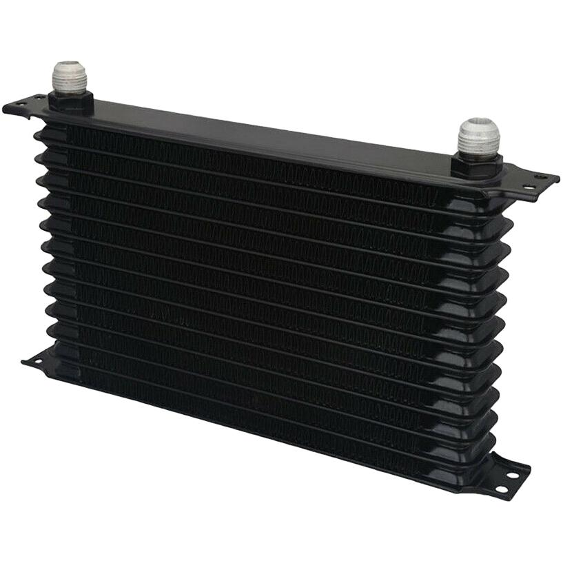 "13 Row Engine Transmission Oil Cooler 6"" Inch Electric Fan Thermostat Temperature Switch In-Line Wire Kit-Oil Cooler-American Volt-10AN-1/8"" NPT-140'F On - 125'F Off-American Volt"