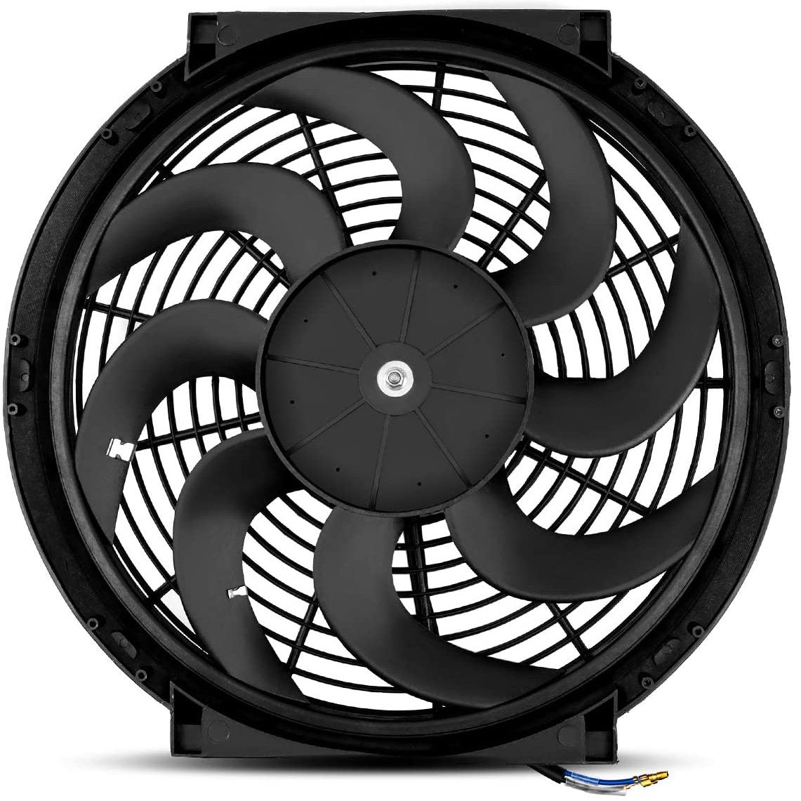 "14"" Inch 12 Volt Electric Engine Radiator Cooling Fan Upgraded 180W Motor Best High CFM Performance-Single Electric Fans-American Volt-American Volt"