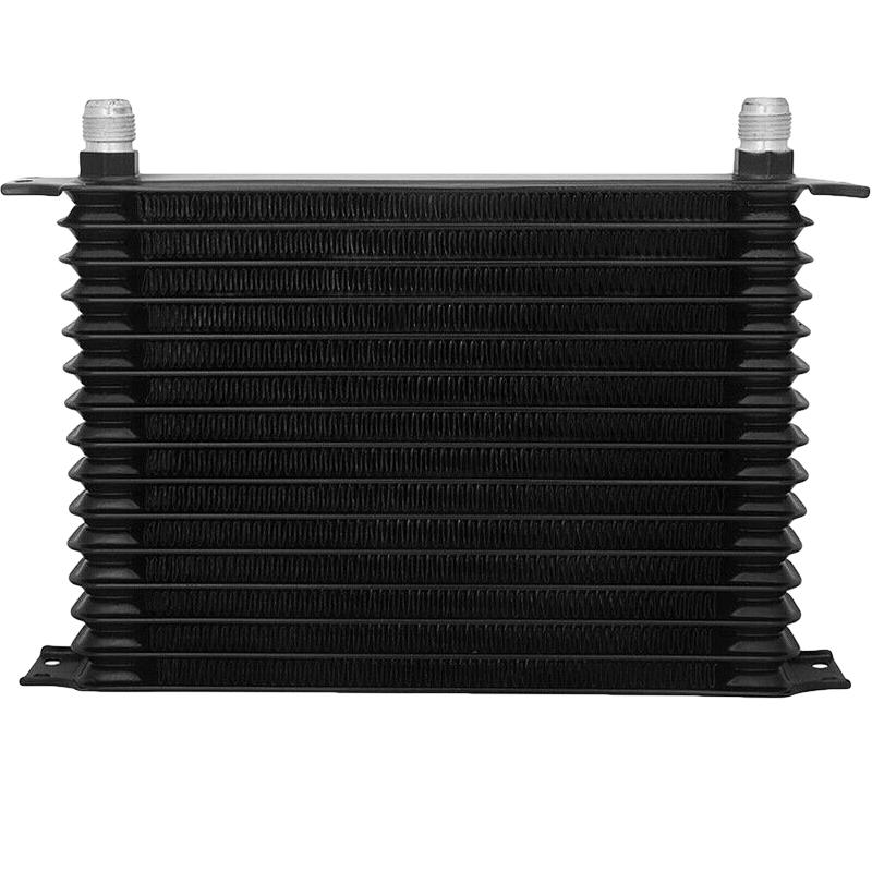"15 Row Engine Transmission Oil Cooler 8"" Inch Electric Fan Thread-In Thermostat Switch Kit-Oil Cooler-American Volt-10AN-1/8"" NPT-140'F On - 125'F Off-American Volt"