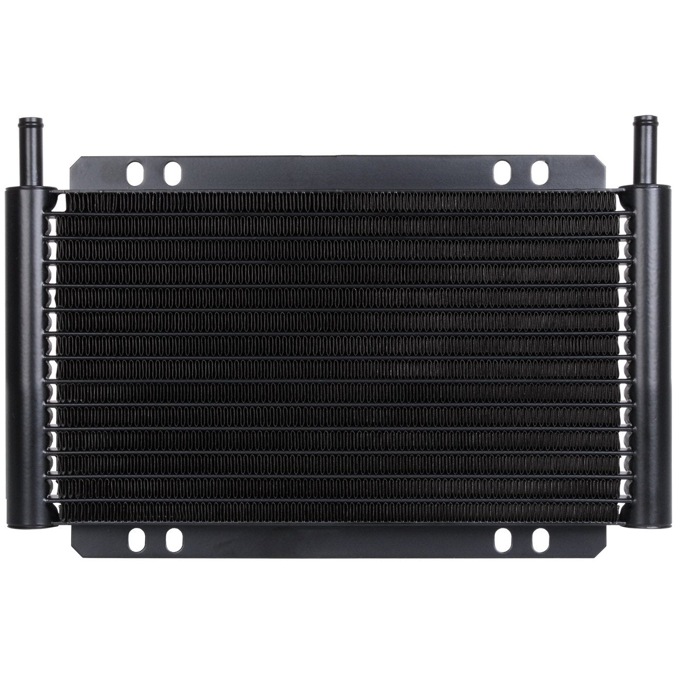 "17 Row Engine Transmission Oil Cooler 6"" Inch Electric Cooling Fan Ground Thermostat Temp Switch Kit-Oil Cooler-American Volt-6AN-1/8"" NPT-140'F On - 125'F Off-American Volt"