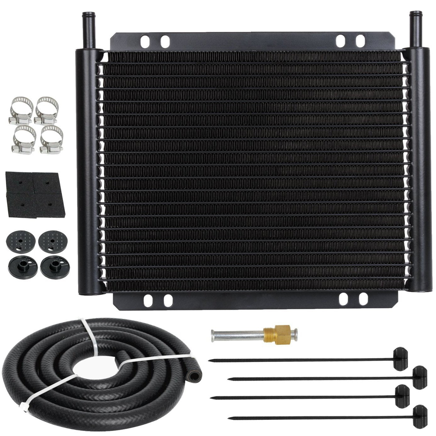 23 Row Aluminum Heavy Duty Auto Engine Transmission Oil Cooler Kit Car Truck RV SUV Trailer Towing-Oil Cooler-American Volt-American Volt