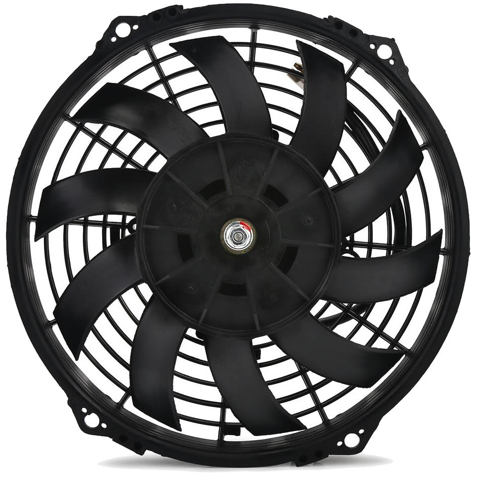 "30 Row Engine Transmission Oil Cooler 8 Inch Electric Cooling Fan Fin Thermostat Temperature Switch Kit-Oil Cooler-American Volt-6AN-3"" Inch-140'F On - 125'F Off-American Volt"