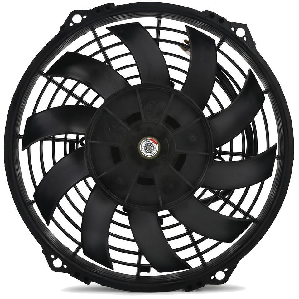 "34 Row Engine Transmission Oil Cooler 9"" Inch Electric Cooling Fan Fin Thermostat Temperature Switch Kit-Oil Cooler-American Volt-10AN-3"" Inch-140'F On - 125'F Off-American Volt"