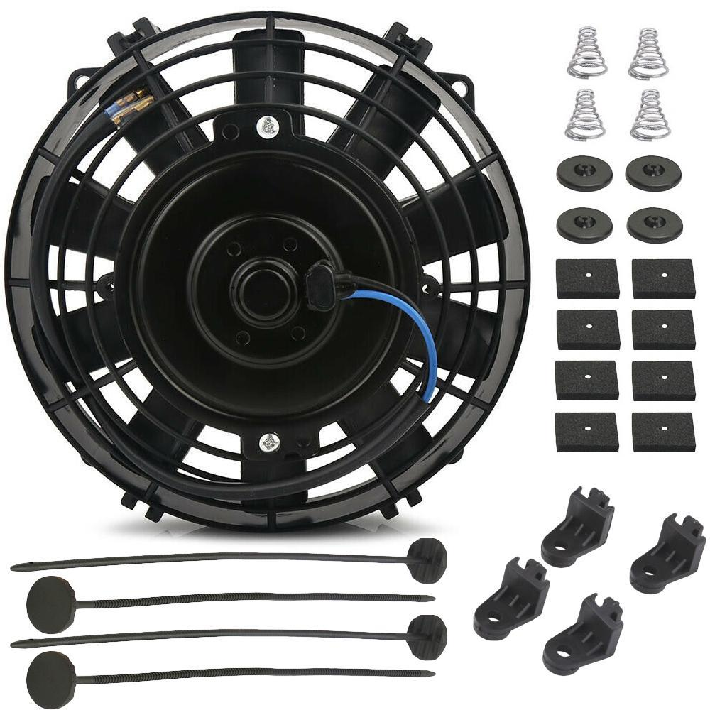 "6 Row Universal Aluminum Heavy Duty Engine Towing Transmission Oil Cooler 6"" Inch Electric Fan Kit-Oil Cooler-American Volt-American Volt"