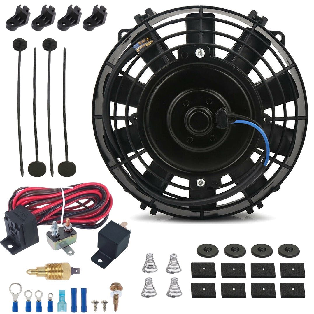 "7"" Inch Automotive Car Truck Electric Cooling Fan Grounding Thermostat Temperature Switch Kit-Single Electric Fans-American Volt-1/8"" NPT-140'F On - 125'F Off-American Volt"