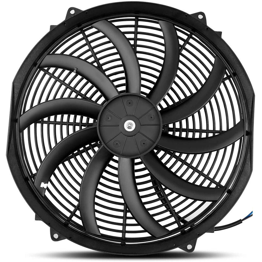 "Dual 16"" Inch Electric Fans 12 Volt Radiator Cooling Fan Upgraded 130W Motor Best High CFM-Dual Electric Fans-American Volt-American Volt"