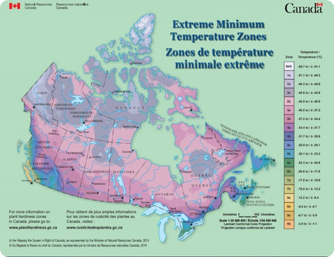 Government Canada's Map of Extreme Cold Temperatures