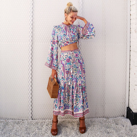 Boho chic print suits