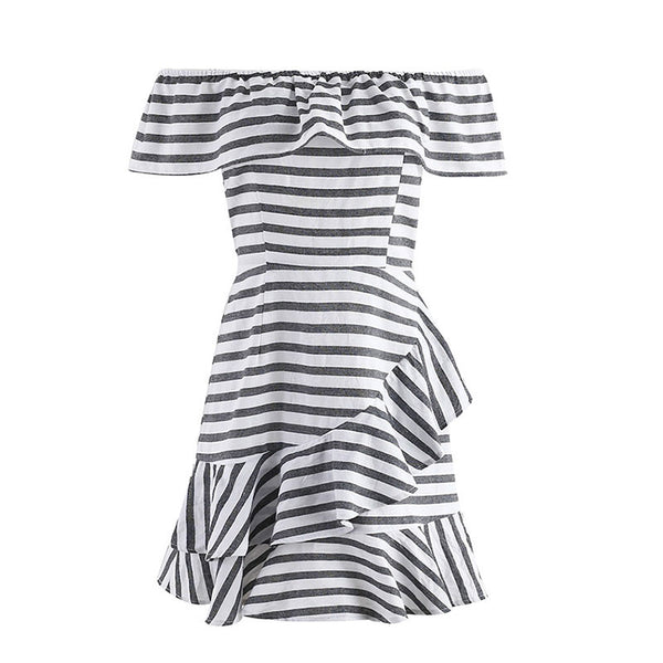 Ruffle striped dress