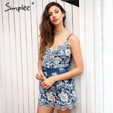 2017-Cotton embroidery romper-Simplee