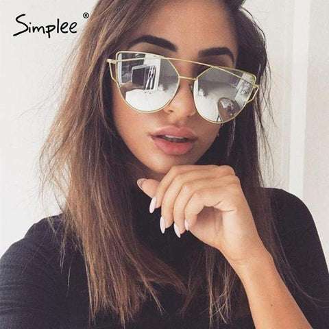 2017-Fashion cat eye sunglasses-Simplee