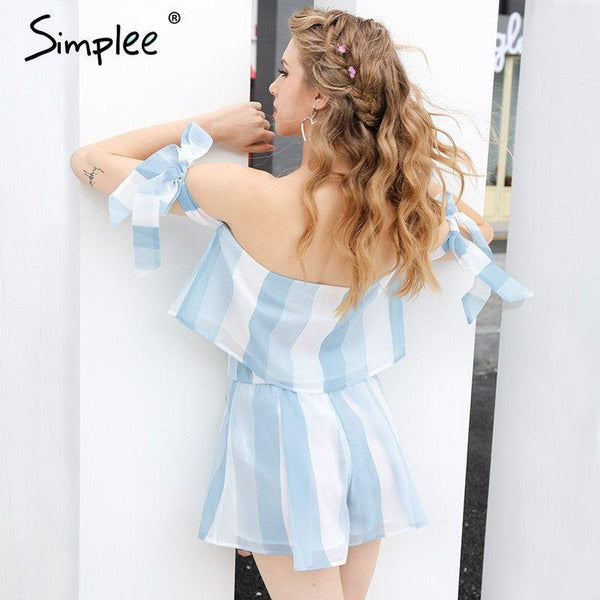 2017-Organza striped blouse-Simplee