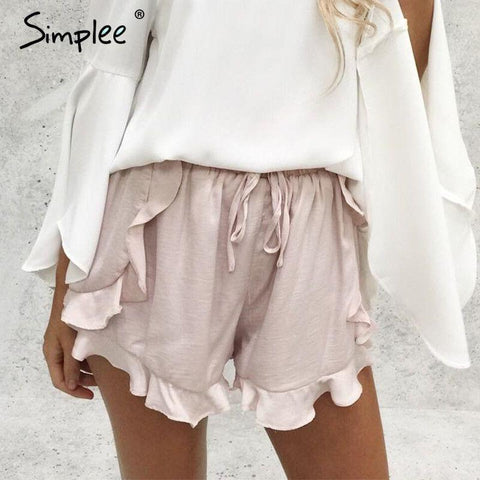 2017-Ruffles high waist short-Simplee