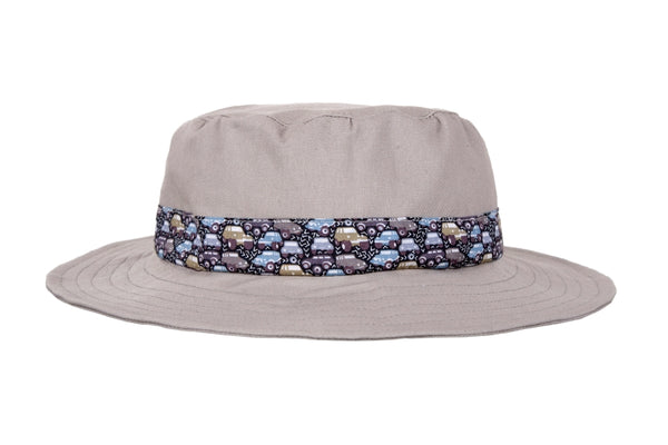Sun Hat - Khaki and Cars
