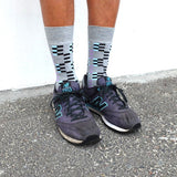 Men's Grey & Lilac Pixel Sock
