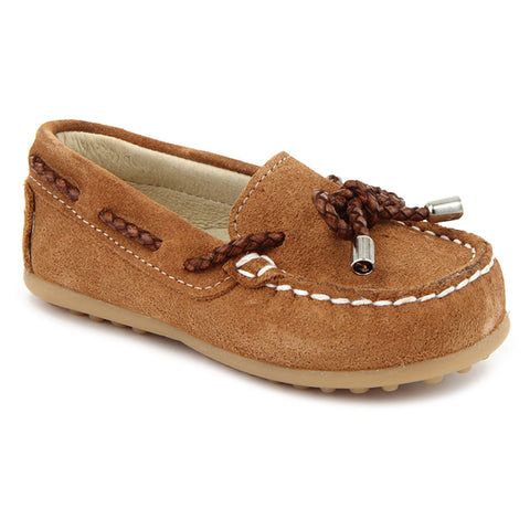 Camel Suede Nautical Shoes