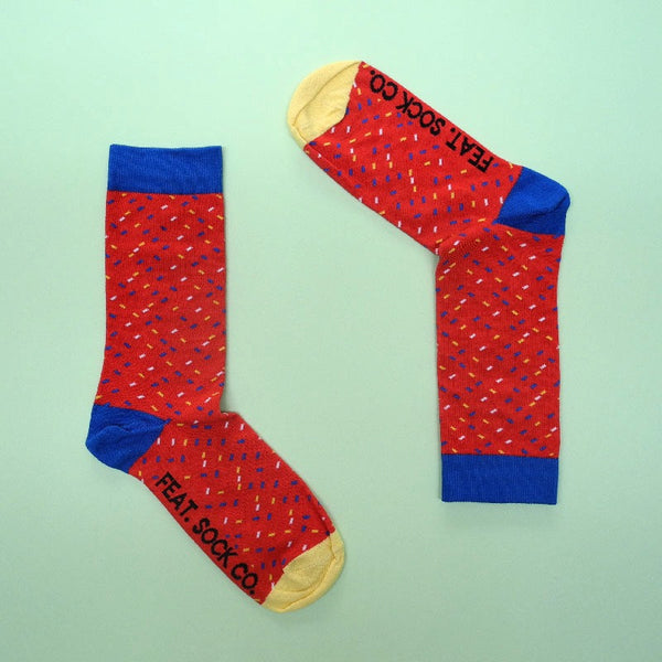 Confetti Socks - Red