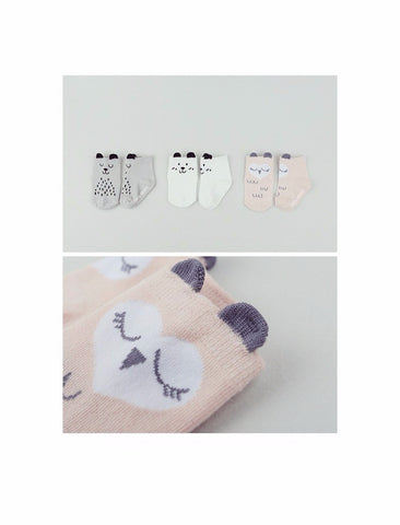 Baby Socks Pink Owl size 0-12m / 1-2 yrs