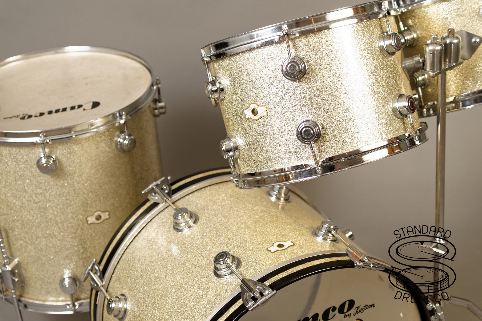 Camco Silver Sparkle Artist Owned Kit Standard Drum Company