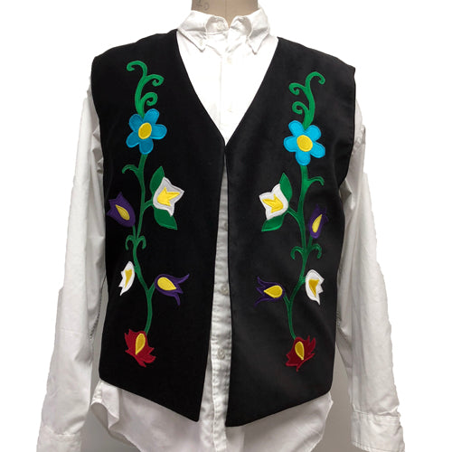 EASTERN WOODLAND FLORAL WOOL VEST