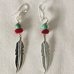 INDIGENOUS FEATHER EARRING