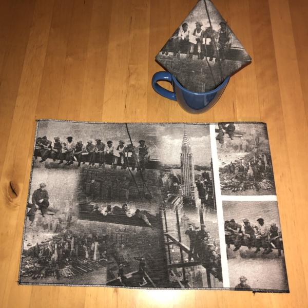 IRONWORKER PLACEMATS & NAPKINS SET