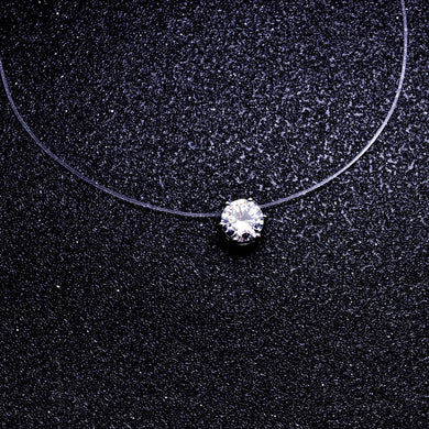 chain link zircon CZ choker necklace