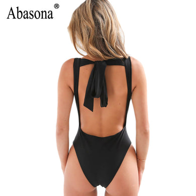 backless tops Sexy deep V bodycon bodysuit Chic Style silk stretch bathing suit