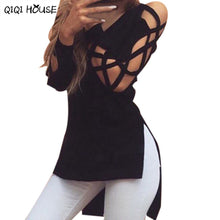 Blouse Plus Size Blouse Women Sexy Hollow Out Long Sleeve Casual Top
