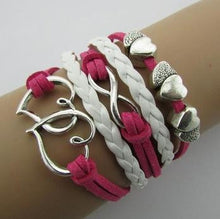 Infinite Multilayer Leather Bracelets Love Anchor Rudder 8 Bracelets