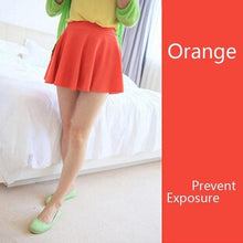 10 Colors Women Skirt Shorts  Candy Colors Red White Blue Pleated Skirts Prevent Exposure High Elasticity Pleated