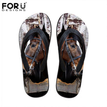 Cute 3D Pet Cat Dog Terrier Printed Sandals